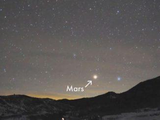 Mars dans le ciel