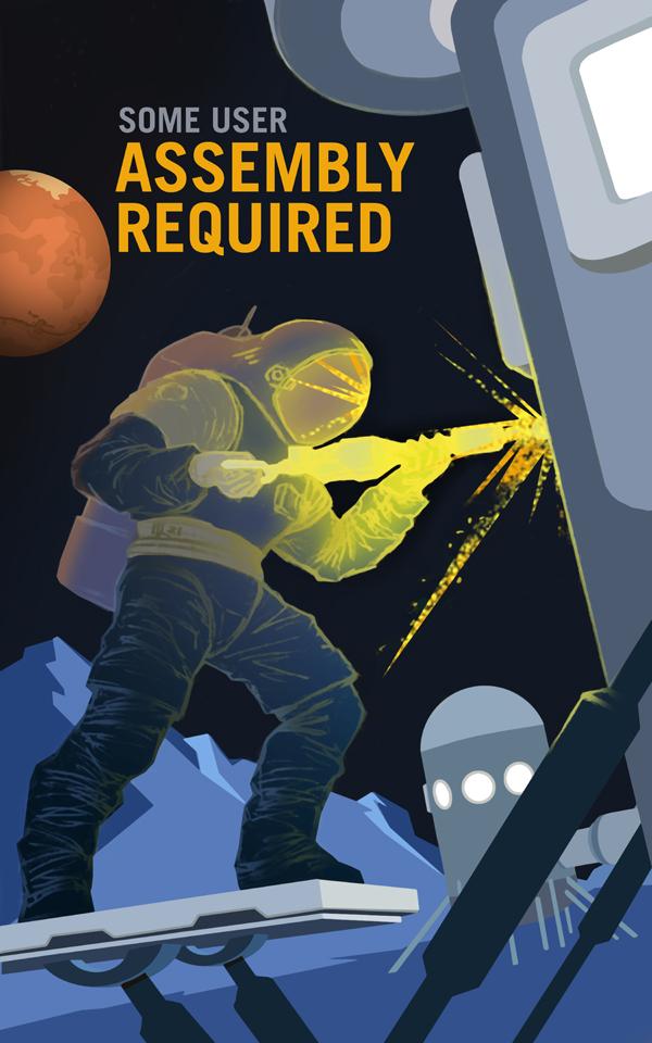 Poster de la NASA: devenez mécanicien sur la planète Mars !