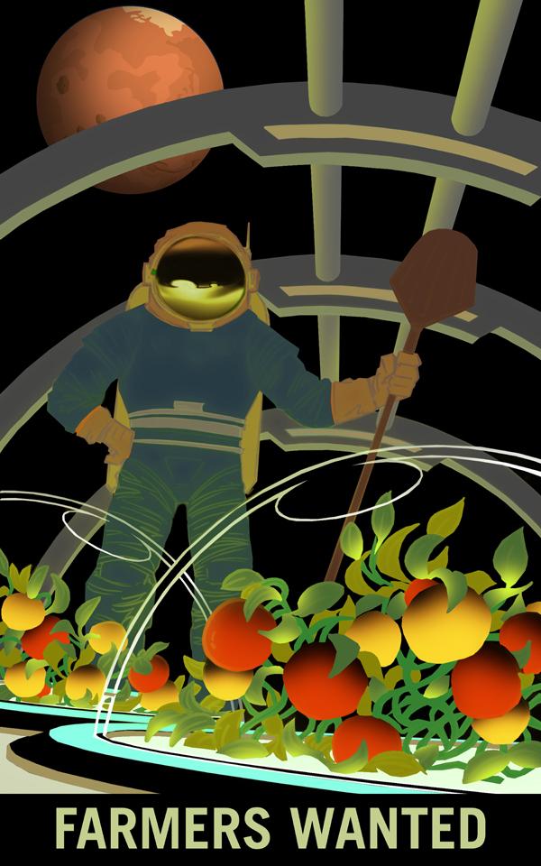 Poster de Mars: on recherche des agriculteurs pour la planète Mars