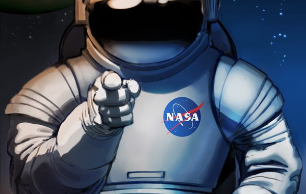 Poster de la Nasa à la manière de l'oncle Sam: weed you (on a besoin de vous pour la conquête de Mars)