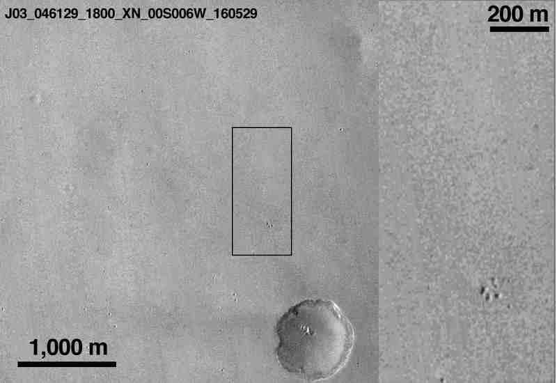 Meridiani Planum avant le crash de Schiaparelli