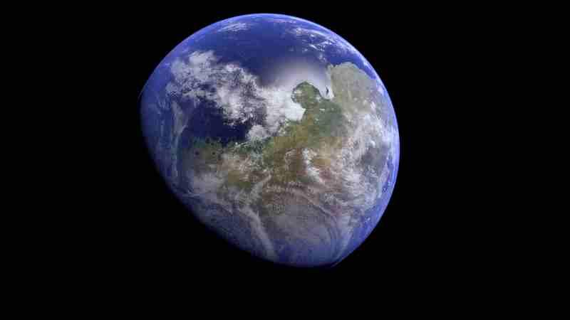 Mars avec de l'eau, une atmosphère et de la végétation imaginée par Kevin Gill