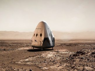 Capsule Dragon spaceX sur Mars