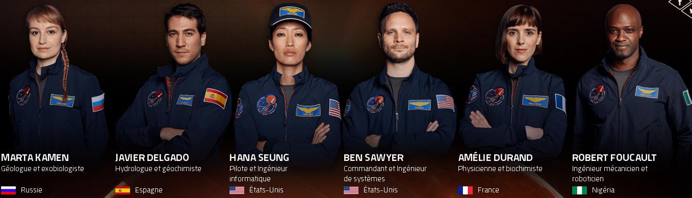 Série Mars: équipage du Daedalus