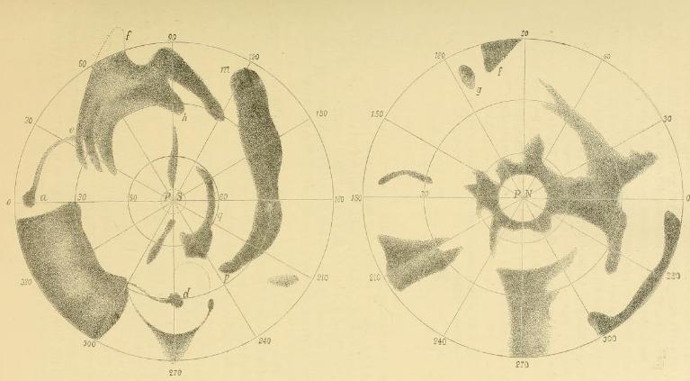 Carte de Mars de Beer et Madler - 1840