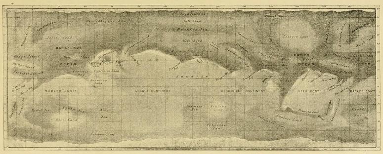 Carte de Mars - Nathaniel Green - 1877