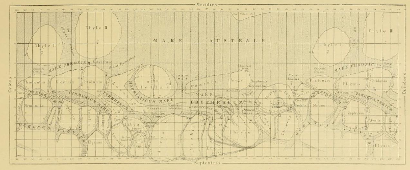 Carte de Mars- Giovani Schiaparelli -1877
