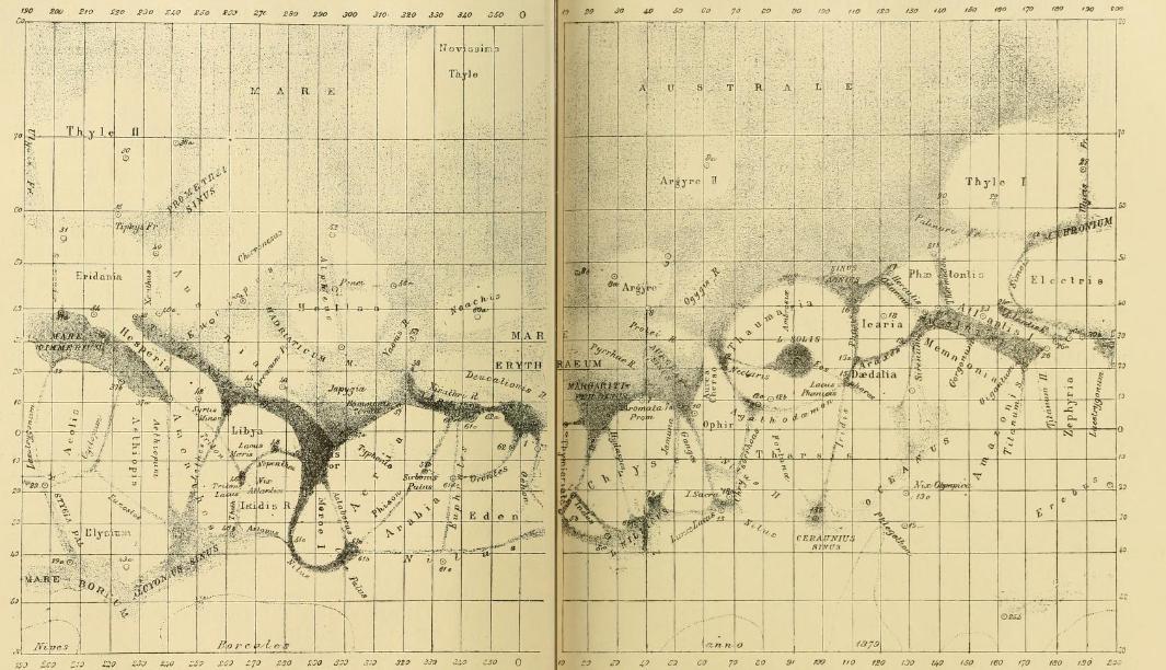 Carte de Mars - Giovani Schiaparelli - 1879