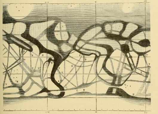 Carte des canaux de Mars - Perrotin et Thollon - 1886