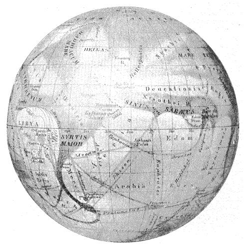 Globe martien - Eugène Antoniadi - 1899