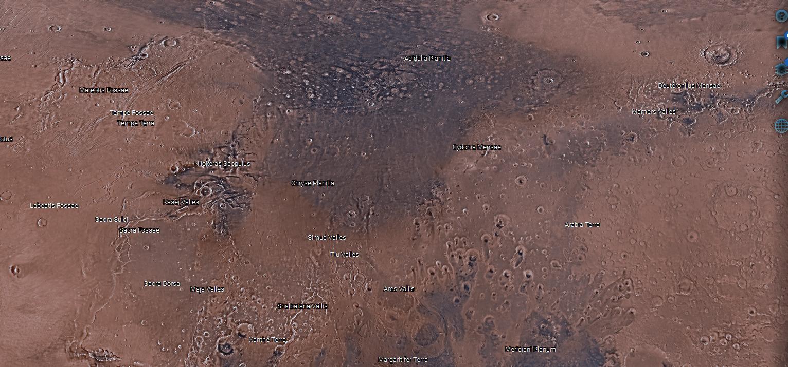 carte en ligne de Mars